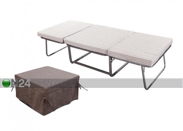 Раскладушка - пуф*каркас металлический*размеры кровати: высота 47 см, ширина 75 см, длина 188 см...